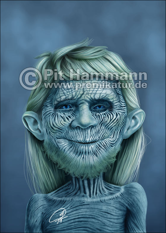 Alfred E. Neumann als White Walker | digitale Illustration