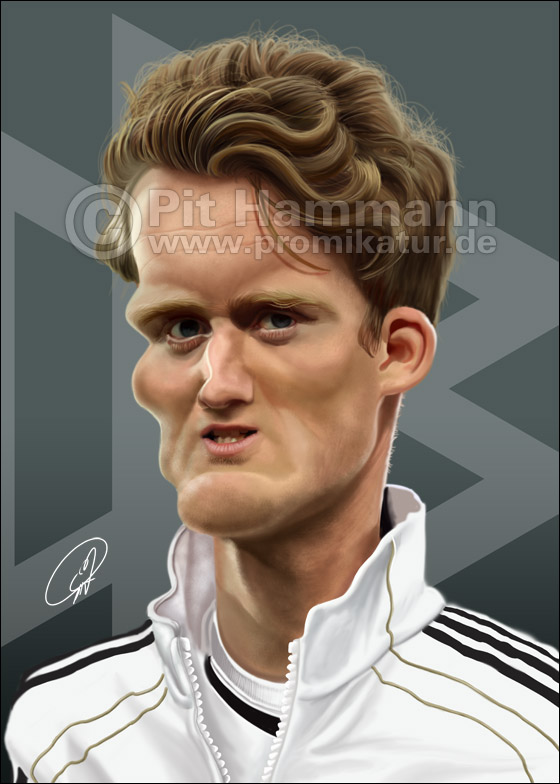 Andre Schuerrle Karikatur | digitale Illustration