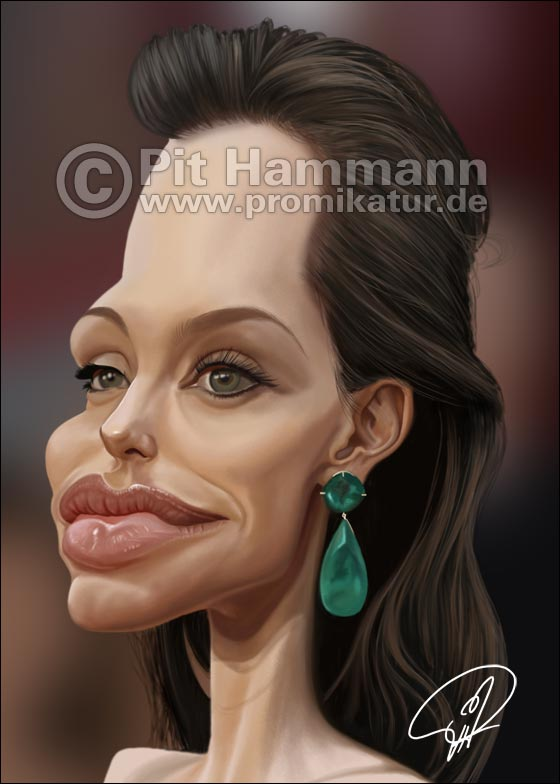 Karikatur Angelina Jolie | digitale Illustration