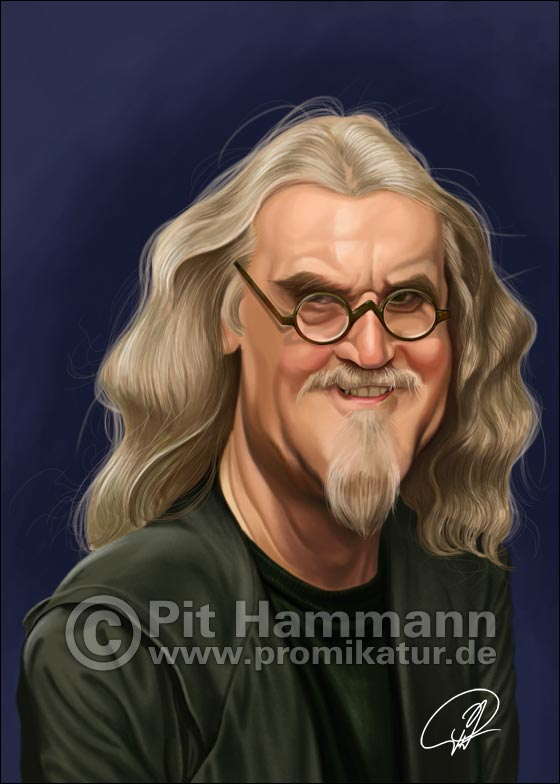 Karikatur Billy Connolly | digitale Illustration