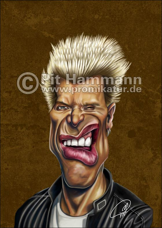 Billy Idol Karikatur | digitale Illustration