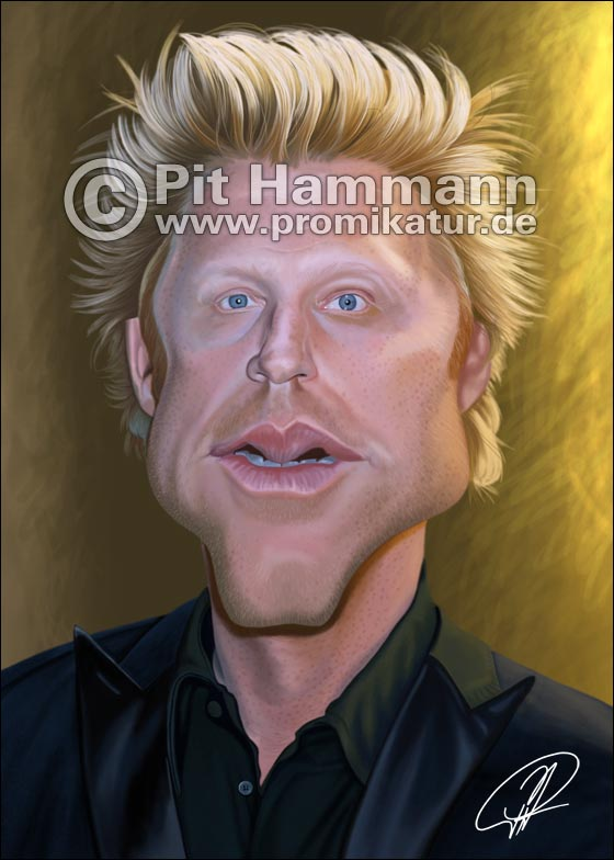 Boris Becker Karikatur | digitale Illustration
