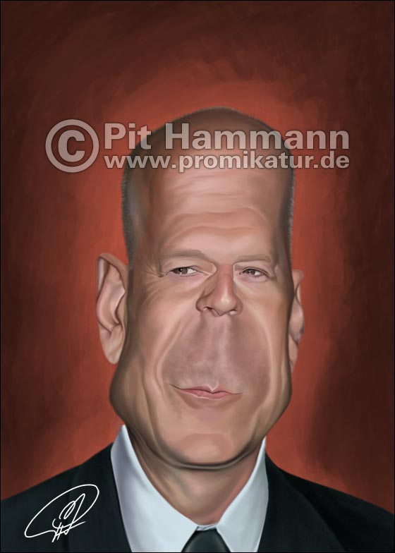 Karikatur Bruce Willis | digitale Illustration