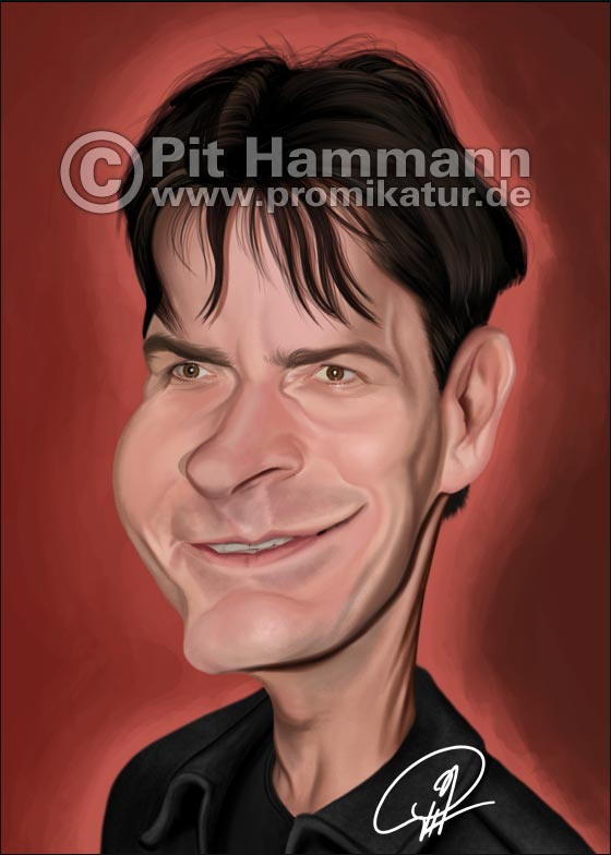Karikatur Charlie Sheen | digitale Illustration
