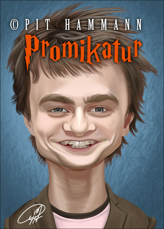 Karikatur Daniel Radcliffe alias Harry Potter | digitale Illustration