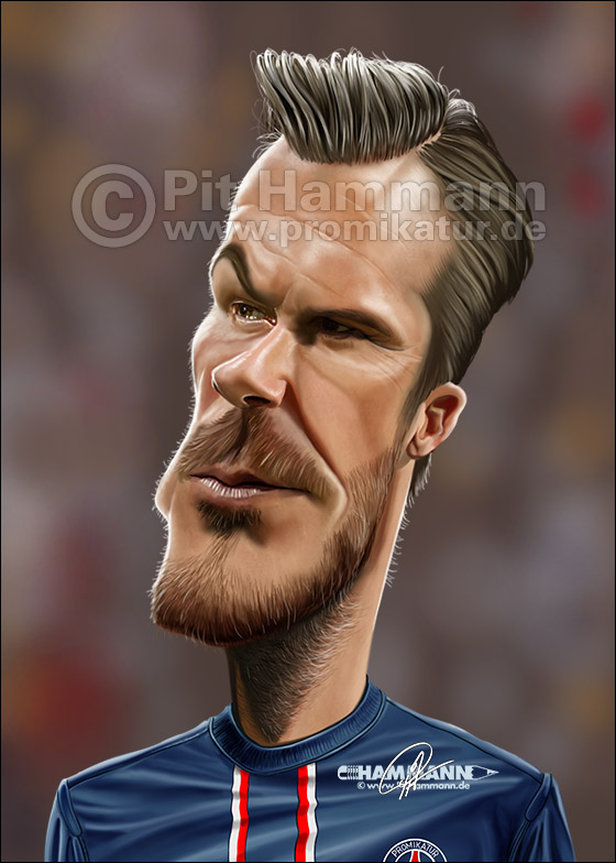 David Beckham Karikatur | digitale Illustration