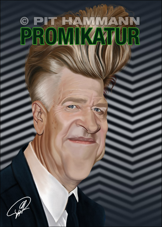 Karikatur David Lynch | digitale Illustration