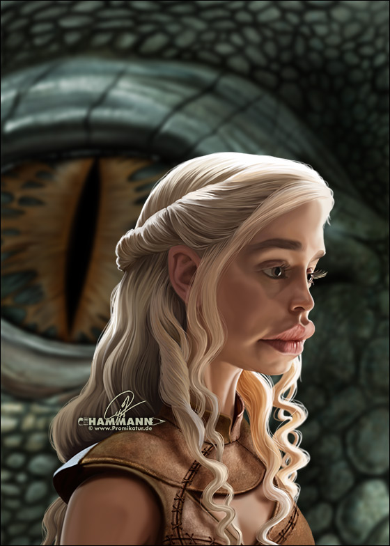 Karikatur Emilia Clarke | digitale Illustration