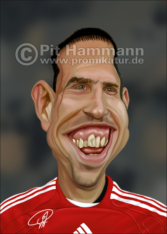Franck Ribery Karikatur | digitale Illustration