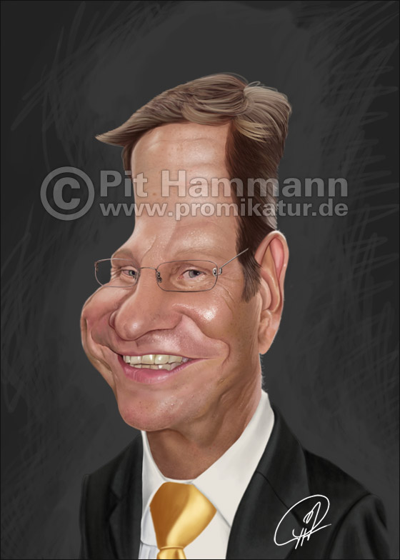 Guido Westerwelle Karikatur Nr. 2 | digitale Illustration