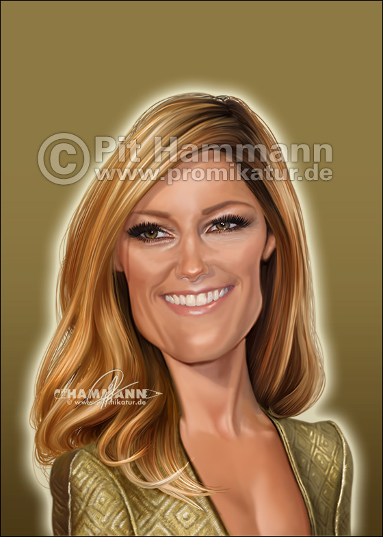 Helene Fischer Karikatur | digitale Illustration