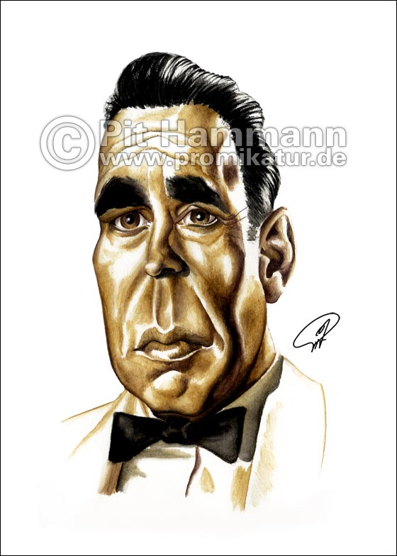 Humphrey Bogart Karikatur | digitale Illustration