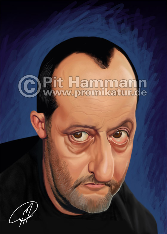 Karikatur Jean Reno | digitale Illustration