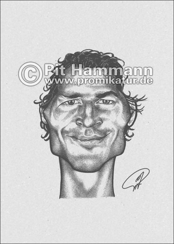 Jens Lehmann Karikatur | digitale Illustration