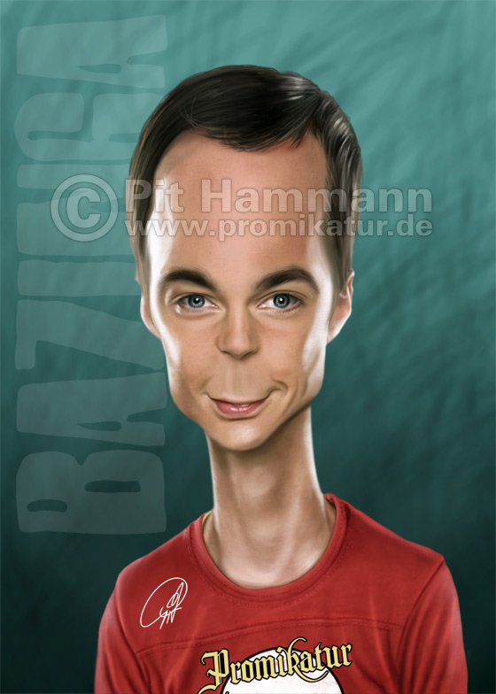 Karikatur Jim Parsons | digitale Illustration