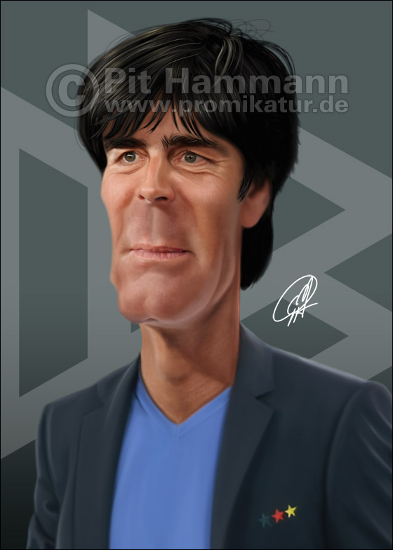 Joachim Löw Karikatur Nr. 2 | digitale Illustration