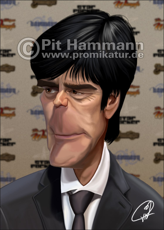 Joachim Löw Karikatur Nr. 1 | digitale Illustration