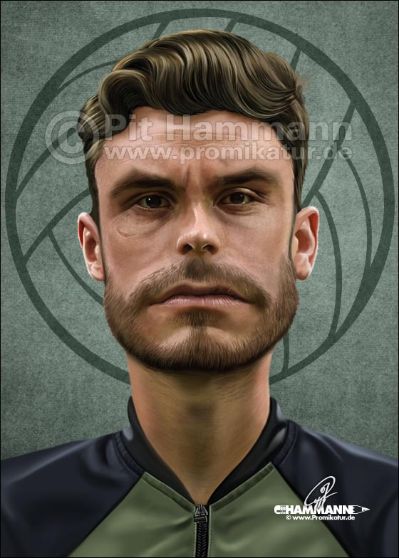 Jonas Hector Karikatur | digitale Illustration