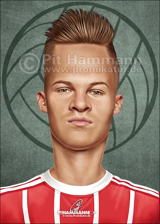 Joshua Kimmich Karikatur caricature caricatura | digitale Illustration