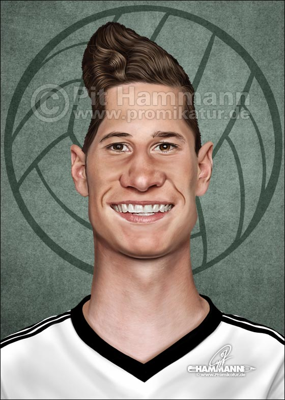 Julian Draxler Karikatur caricature caricatura | digitale Illustration