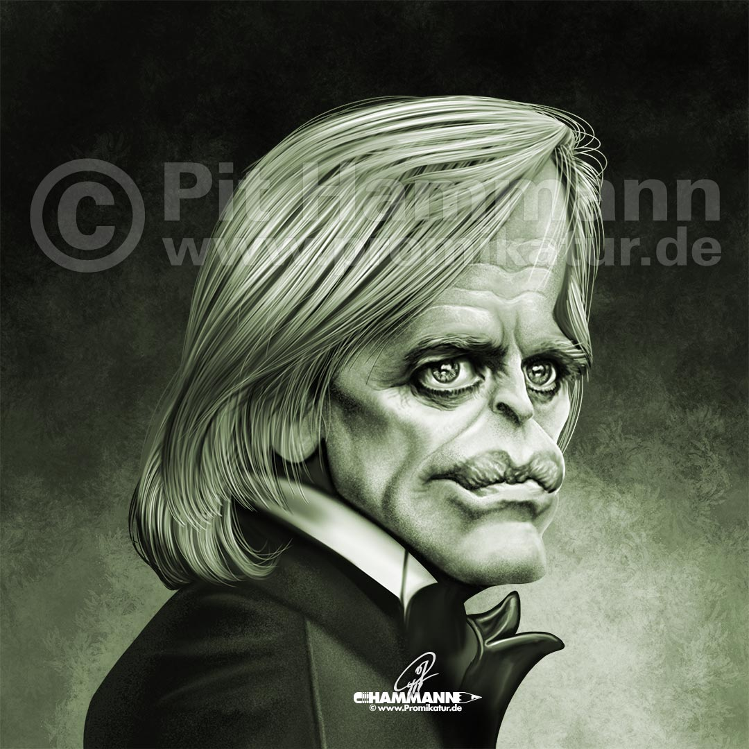 Karikatur Klaus Kinski | digitale Illustration