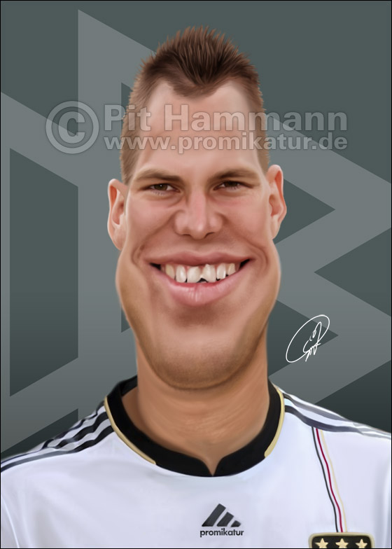 Karikatur Kevin Großkreutz caricature caricatura | digitale Illustration