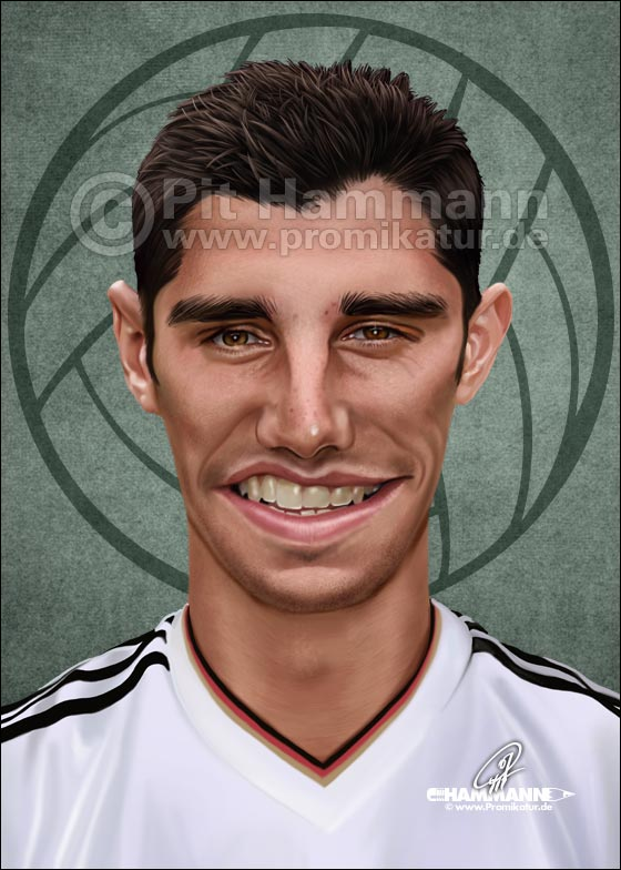 Lars Stindl Karikatur | digitale Illustration