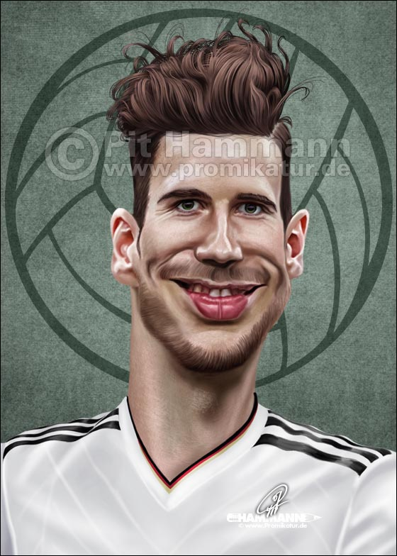 Leon Goretzka Karikatur | digitale Illustration