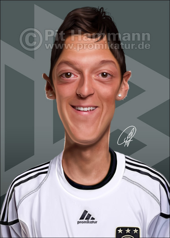 Mesut Özil Karikatur Nr. 2 | digitale Illustration