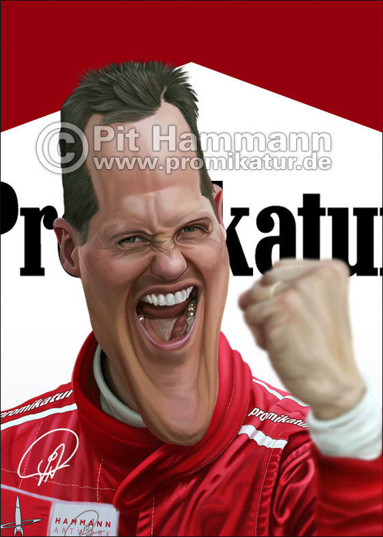 Michael Schumacher Karikatur | digitale Illustration