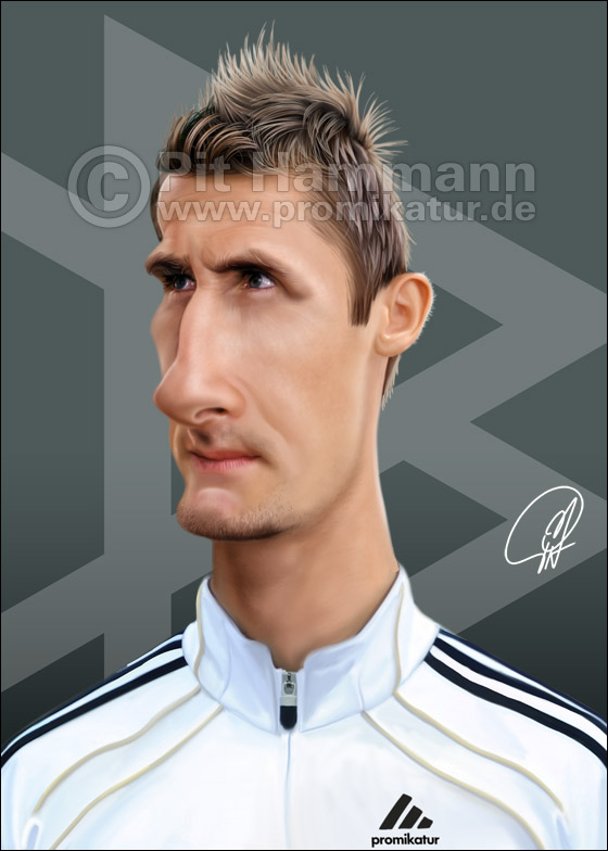 Miroslav Klose Karikatur Nr. 2 | digitale Illustration