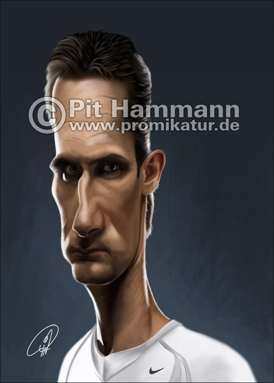 Miroslav Klose Karikatur Nr. 1 | digitale Illustration