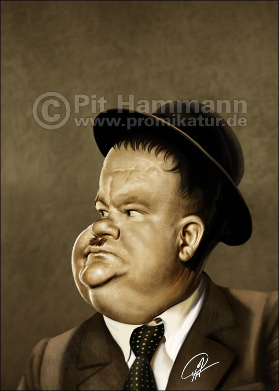 Karikatur Oliver Hardy | digitale Illustration