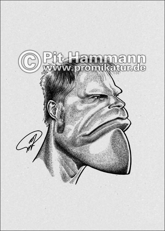 Oliver Kahn Karikatur Nr. 1 | digitale Illustration