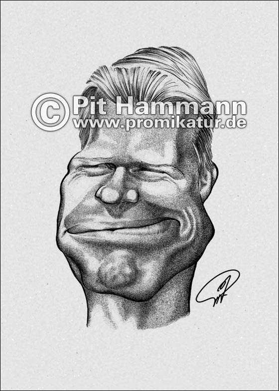 Oliver Kahn Karikatur Nr. 3 | digitale Illustration