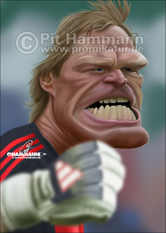 Oliver Kahn Karikatur Nr. 4 | digitale Illustration