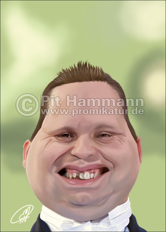 Paul Potts Karikatur | digitale Illustration