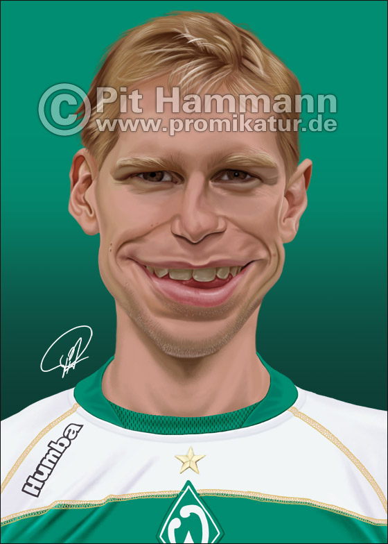 Per Mertesacker Karikatur Nr. 1 | digitale Illustration