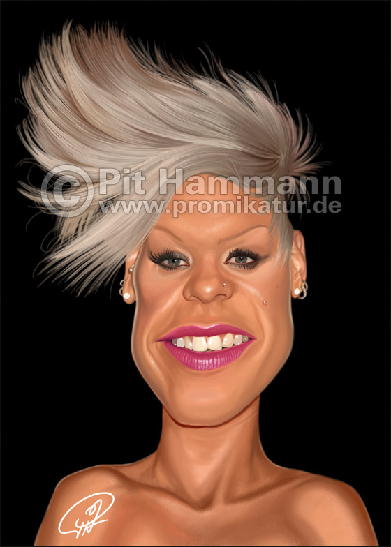 P!nk Karikatur Nr. 1 | digitale Illustration