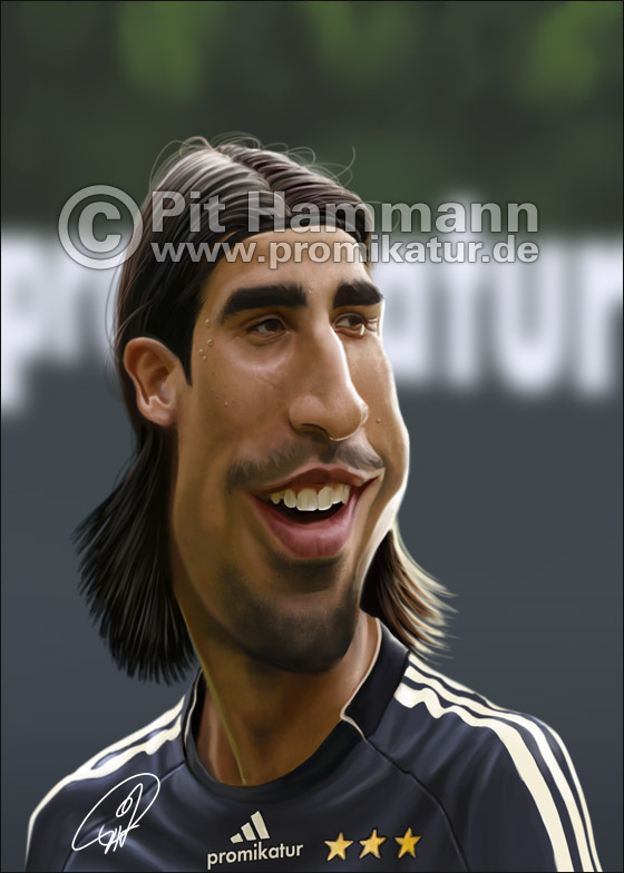 Sami Khedira Karikatur | digitale Illustration