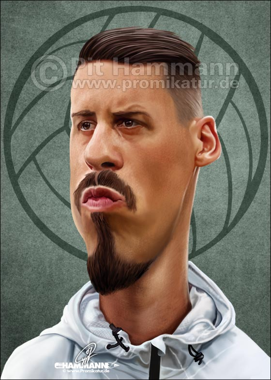 Sandro Wagner Karikatur | digitale Illustration