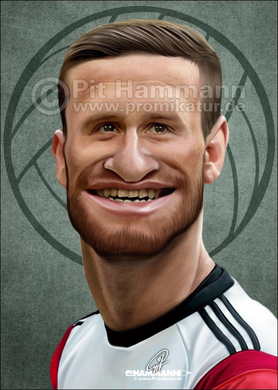 Shkodran Mustafi Karikatur | digitale Illustration