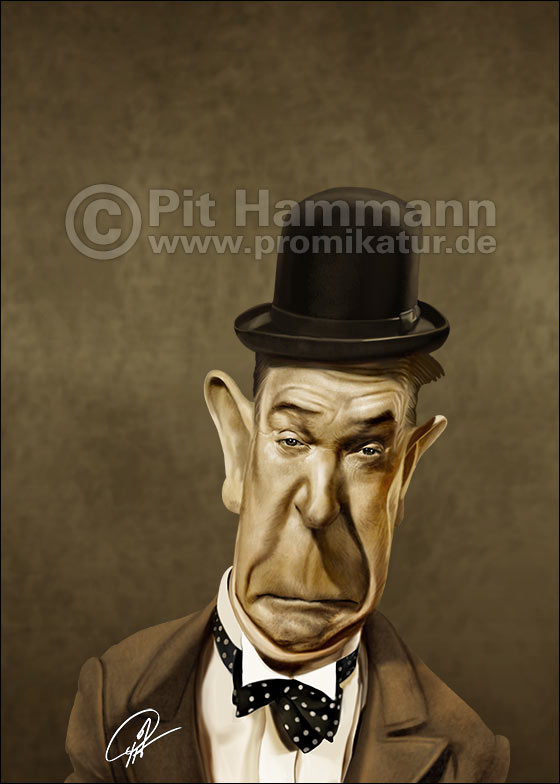 Karikatur Stan Laurel | digitale Illustration