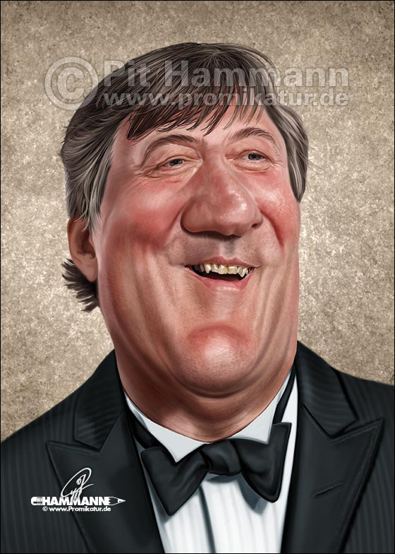 Karikatur Stephen Fry | digitale Illustration