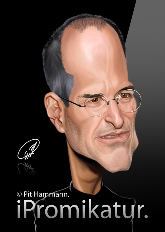 Steve Jobs Karikatur | digitale Illustration