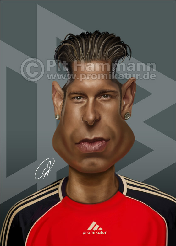 Tim Wiese Karikatur caricature caricatura | digitale Illustration