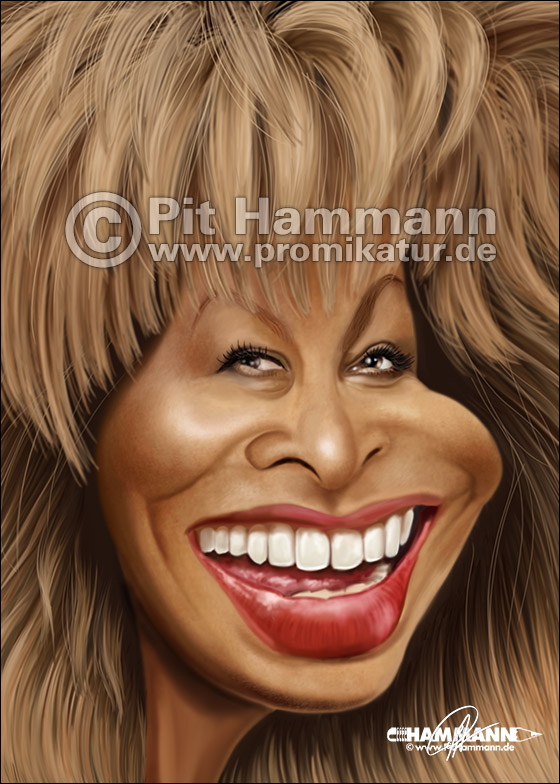 Tina Turner Karikatur Nr. 2 | digitale Illustration