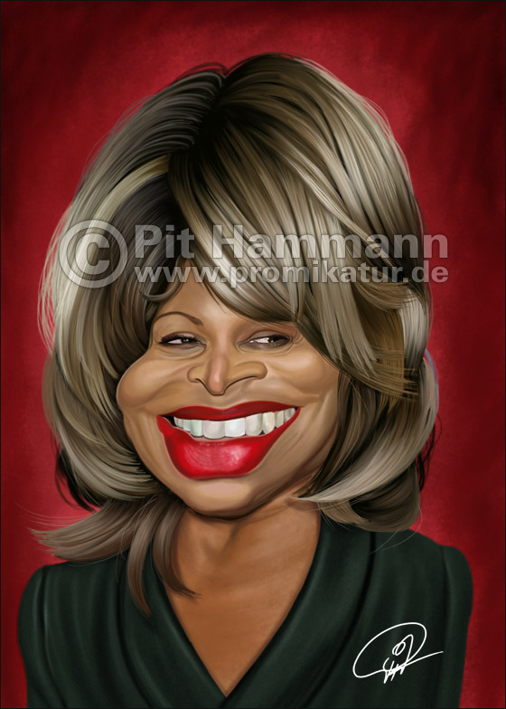 Tina Turner Karikatur | digitale Illustration