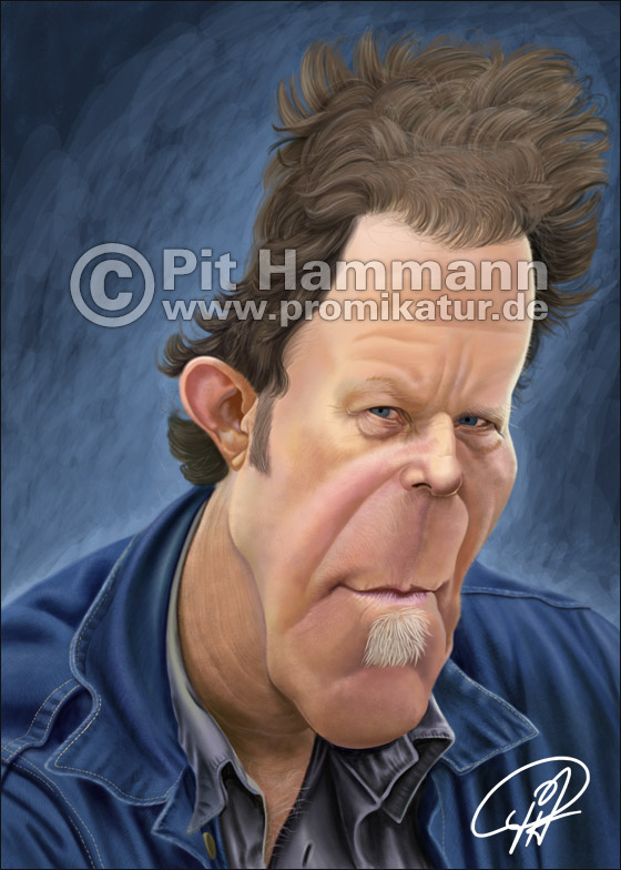 Tom Waits Karikatur | digitale Illustration