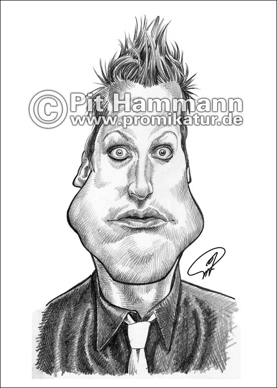 Tré Cool (Green Day) Karikatur